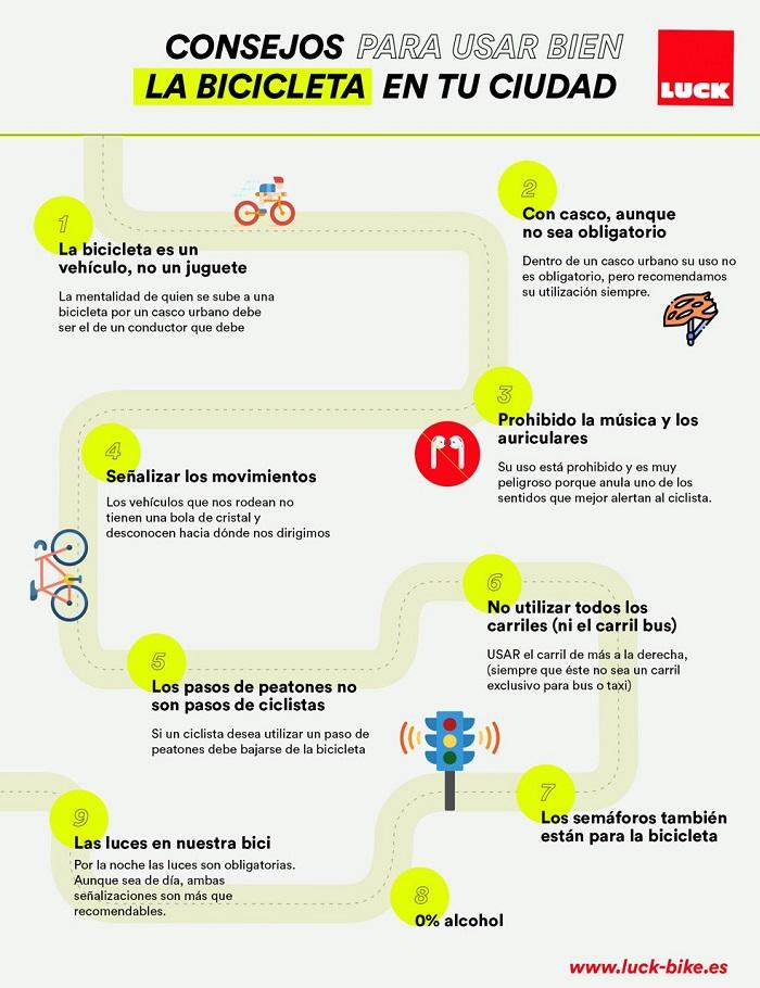 10 consejos para usar bien la bicicleta en tu ciudad